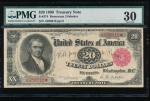 Fr. 374 1890 $20 Treasury Note  PMG 30 A936616*